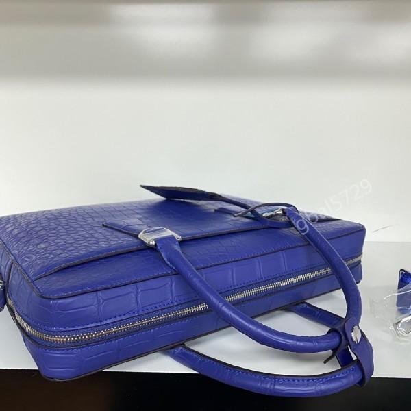 最高級 クロコダイル ワニ革本物 本革 レザー 腹革使用 大容量 ブリーフケース ビジネス 手提げ 通勤用 鞄 A4/PC対応 メンズ ハンドバッグ_画像8
