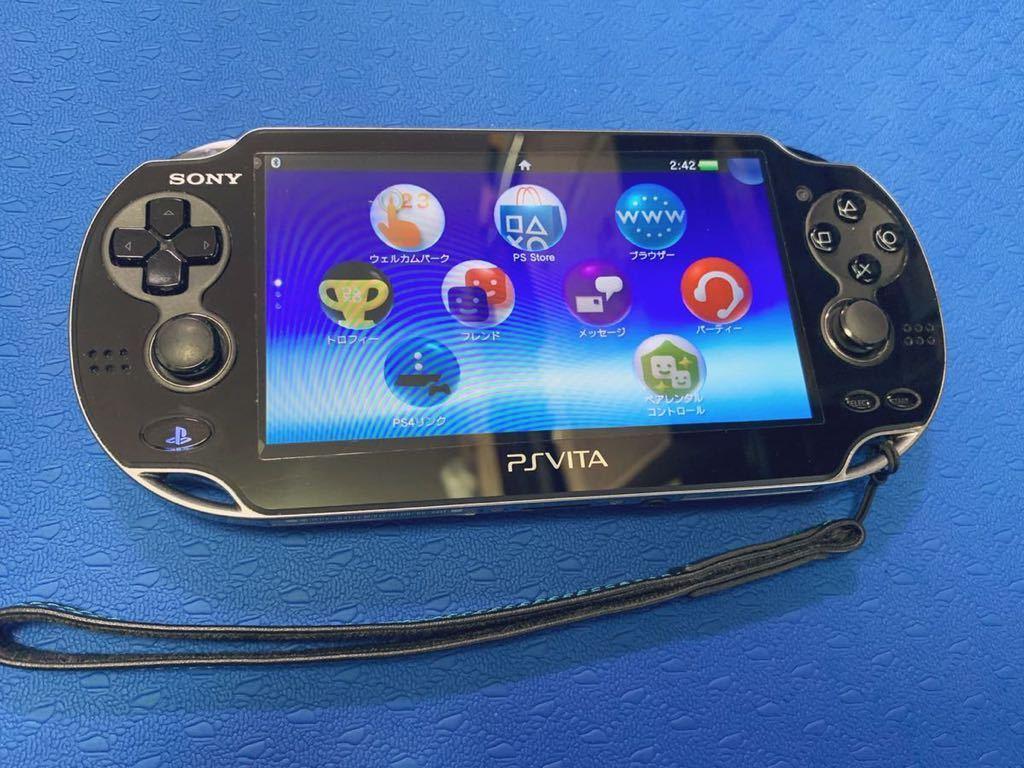 PS Vita PCH-1000 psvita本体 充電器 ゲームソフト スタンド 保護ケース 16GBメモリーカード 付き、中古品_画像2