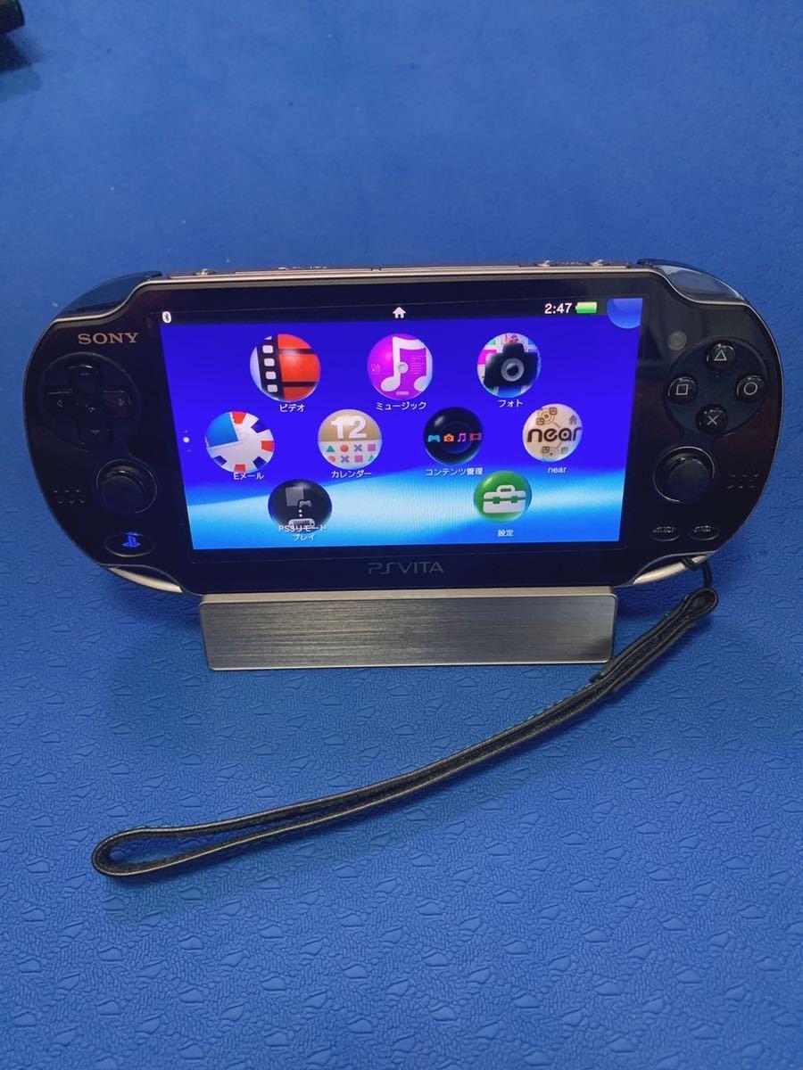 PS Vita PCH-1000 psvita本体 充電器 ゲームソフト スタンド 保護ケース 16GBメモリーカード 付き、中古品_画像7