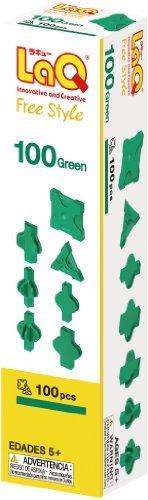 ヨシリツ(YOSHIRITSU) ラキュー (LaQ) フリースタイル(FreeStyle) 100グリーン & (LaQ)_画像2