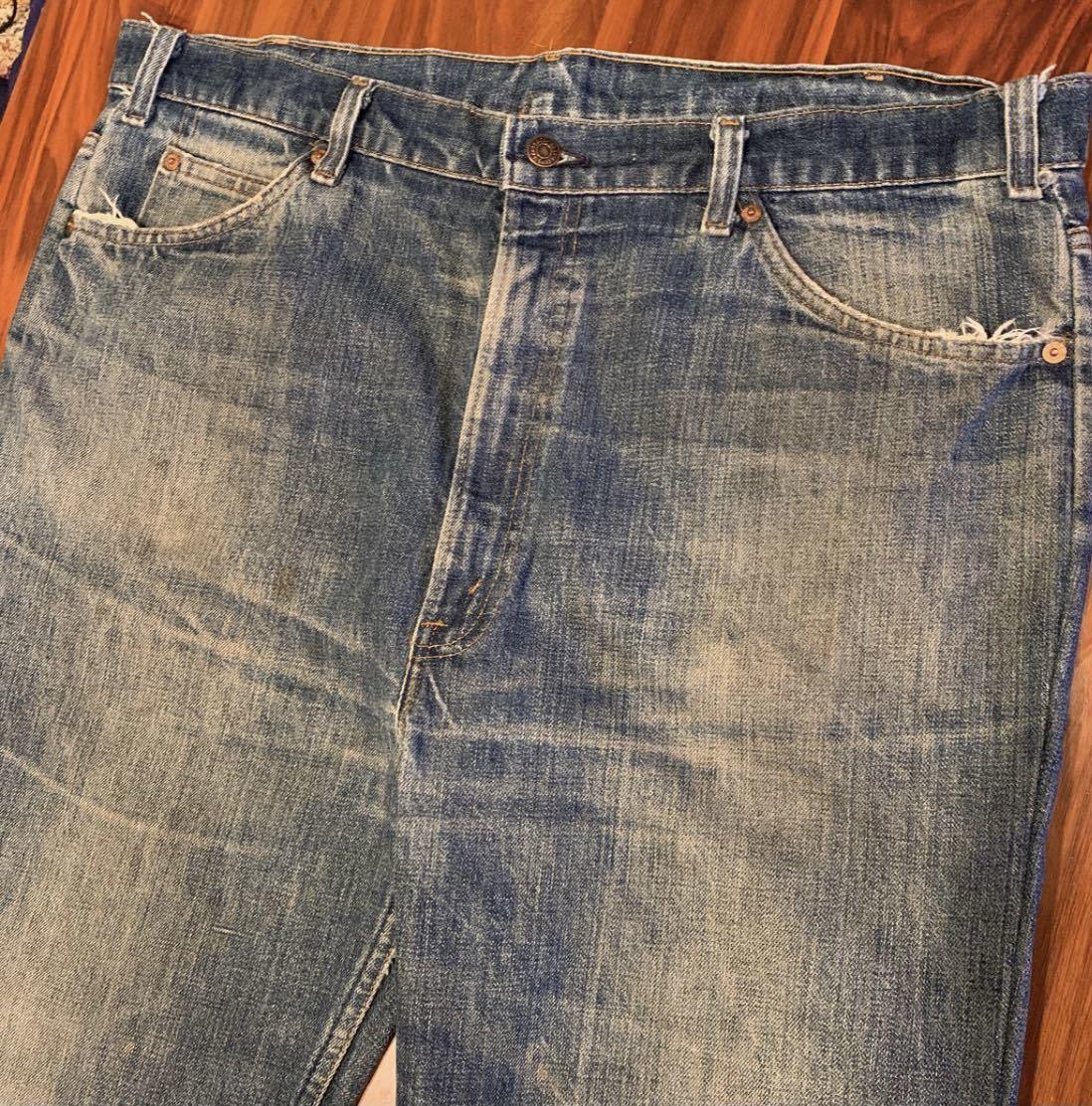 OLD リーバイス 517 ボタン裏8 実寸約102cm vintage デニム パンツ ジーンズ Levi's 501 505 BIGE_画像3