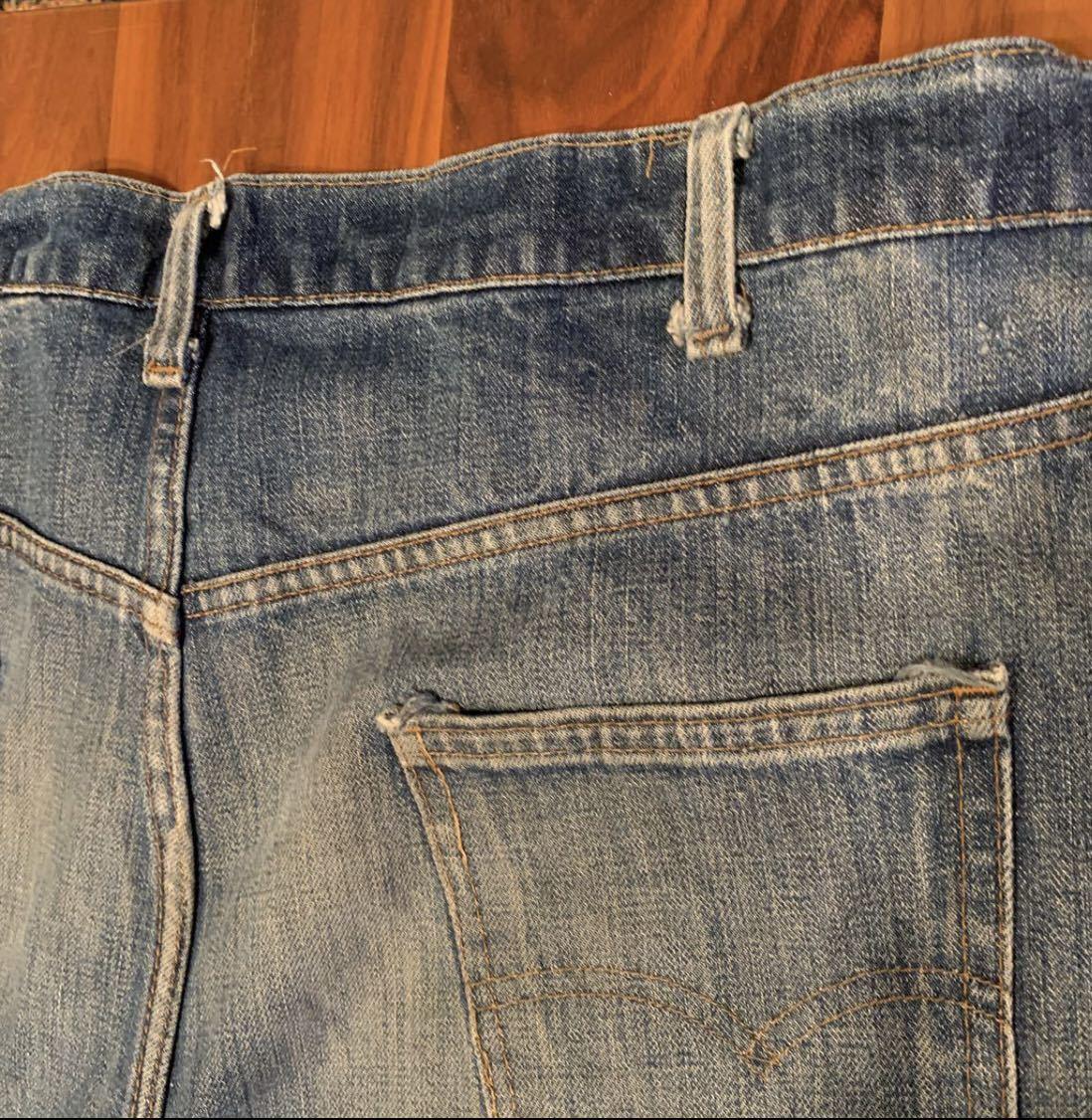 OLD リーバイス 517 ボタン裏8 実寸約102cm vintage デニム パンツ ジーンズ Levi's 501 505 BIGE_画像6