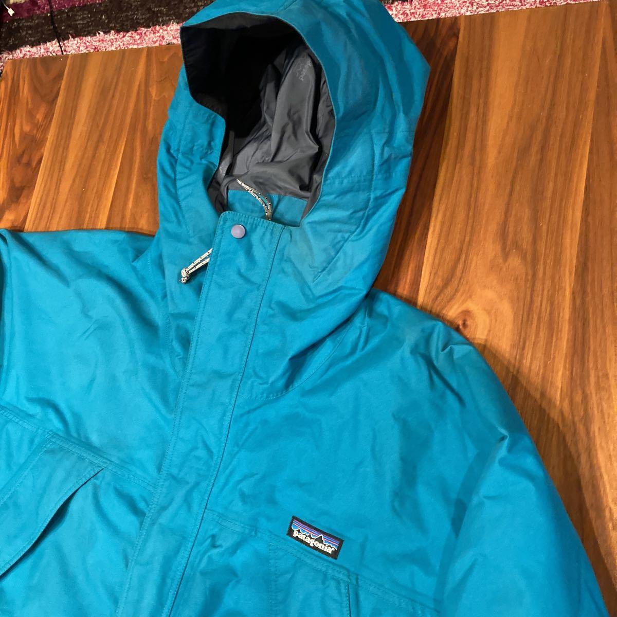 キレイ! patagonia 00年 ストームジャケット L エメラルドグリーン パタゴニア storm jacket マウンテンパーカー ナイロンジャケット_画像2