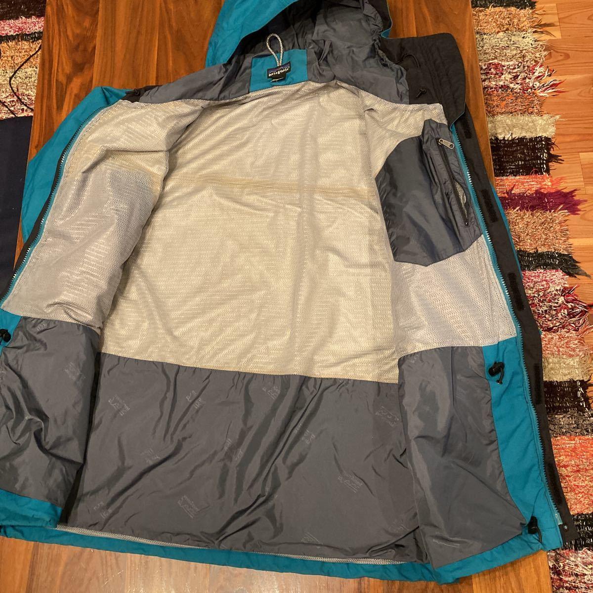 キレイ! patagonia 00年 ストームジャケット L エメラルドグリーン パタゴニア storm jacket マウンテンパーカー ナイロンジャケット_画像5