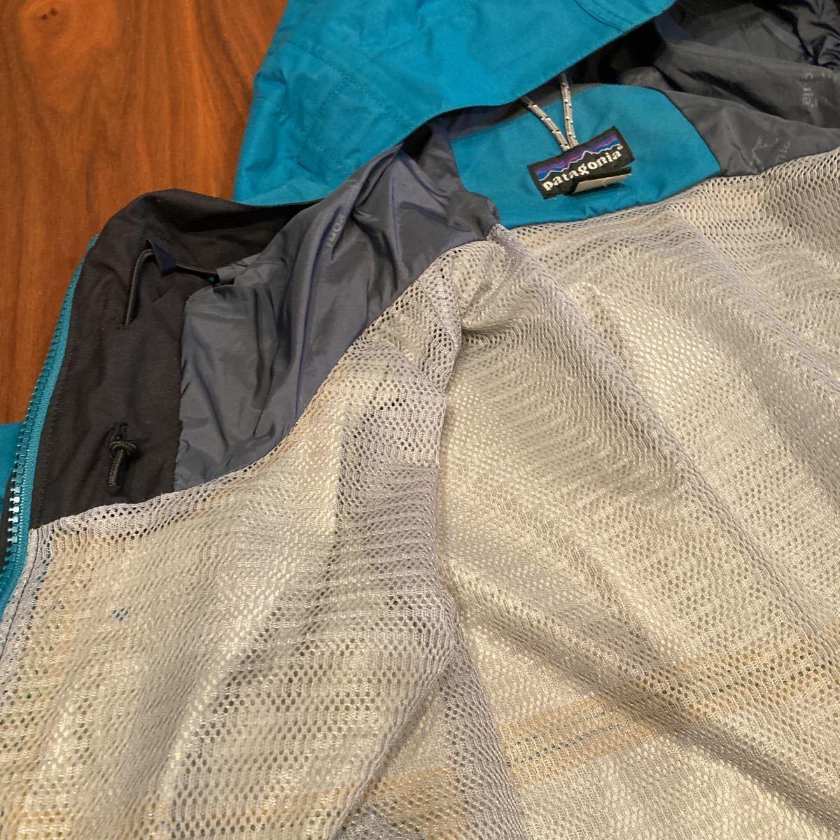 キレイ! patagonia 00年 ストームジャケット L エメラルドグリーン パタゴニア storm jacket マウンテンパーカー ナイロンジャケット_画像7