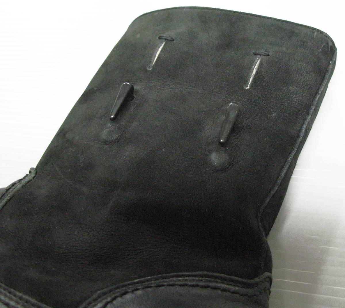 ヨウジ Yohji:2014-15AW 迷彩裏地 2WAY レザー ブーツ / シューズ ( Yohji Yamamoto pour HOMME 2WAY Leather boots 27 shoes_画像4