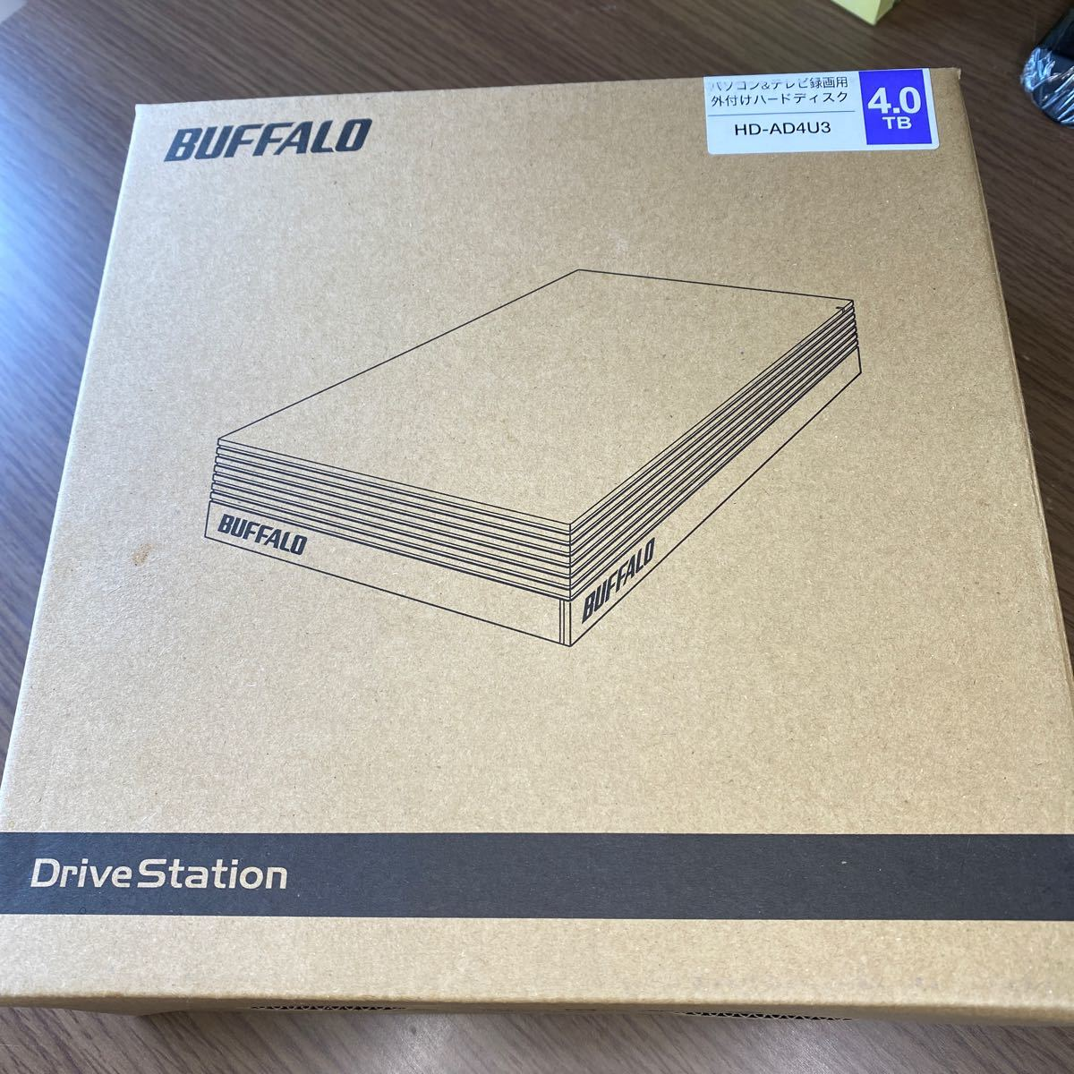 【未使用・未開封】BUFFALO 外付けハードディスク 4TB テレビ録画/PC/PS4/4K対応  HD-AD4U3  