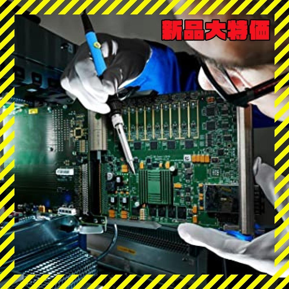 新品青 はんだごて SREMTCH はんだごてセット ON/OFFスイッチ 温度調節可(200~450℃) 9-inTC87_画像5