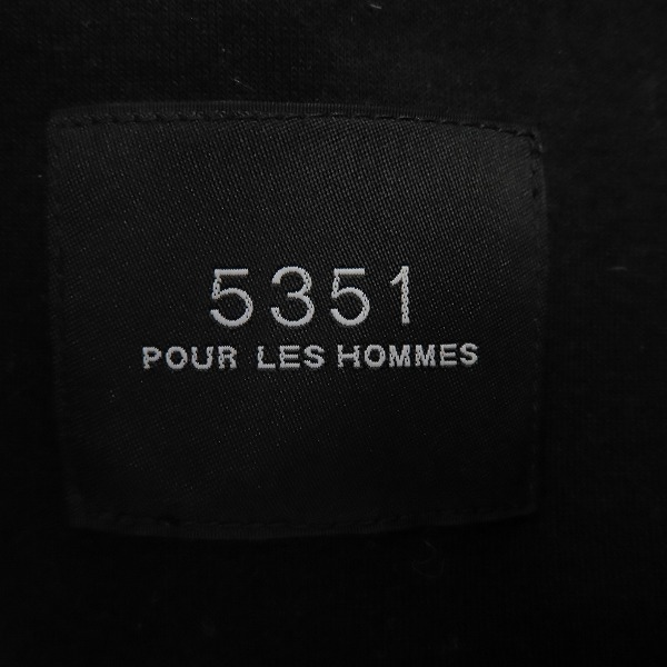 ☆5351 POUR LES HOMME/5351プールオム /ジップアップ 中綿入り ジャケット/ブルゾン 0239-00-30001 /size:44 /060_画像3