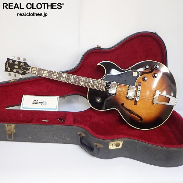 ★Gibson/ギブソン ES-175D Sunburst フルアコ エレキギター 1980年製 ハードケース付 同梱×/180