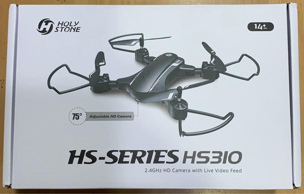 Holy Stone HS310 ドローン HDカメラ付 折り畳み バッテリー2個 飛行時間24分 200g未満