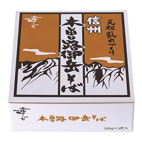 【☆新品★迅速対応】 : はくばく 霧しな 信州木曽路御岳そば 1箱(200g&5袋入)_画像1