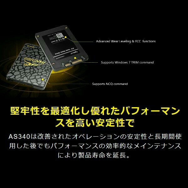 【SSD 120GB】Apacer AS340 PANTHER w/USB