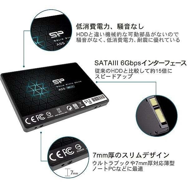【SSD 256GB】シリコンパワー Ace A55