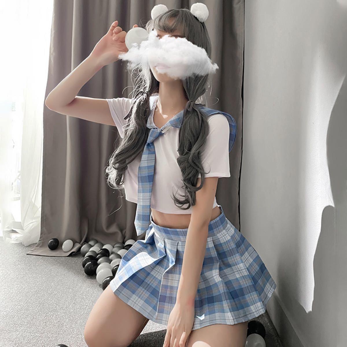 コスプレ セーラー服 セクシー 女子高生 ミニスカ制服 学生制服 JK 仮想 制服セット コスチューム ストッキング付き