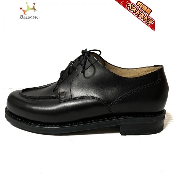 パラブーツ Paraboot 5 1/2F - レザー 黒 レディース 美品 靴