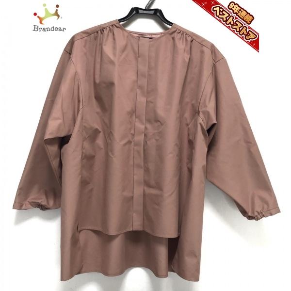 ドゥロワー Drawer サイズ36 S - ベージュ レディース クルーネック/長袖 美品 ワンピース