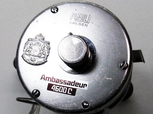 ゜))彡 アブ ABU Ambassadeur 4500C ナロースプール!!1977年製 ステッカー仕様!!傷!傷!傷!