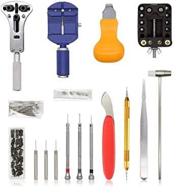 オレンジ E·Durable 腕時計修理工具セット ベルト交換 バンドサイズ調整 時計修理ツール バネ外し 裏蓋開_画像2