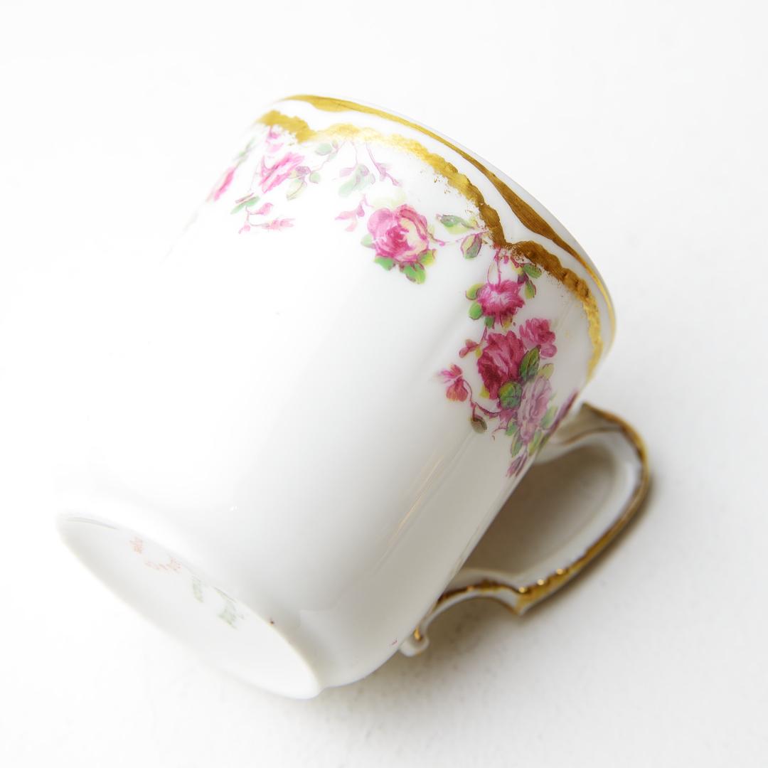 Haviland & Co アビランド リモージュ  アンティーク デミタスカップソーサー フランス ビンテージ コーヒーカップ ティーカップ_画像4