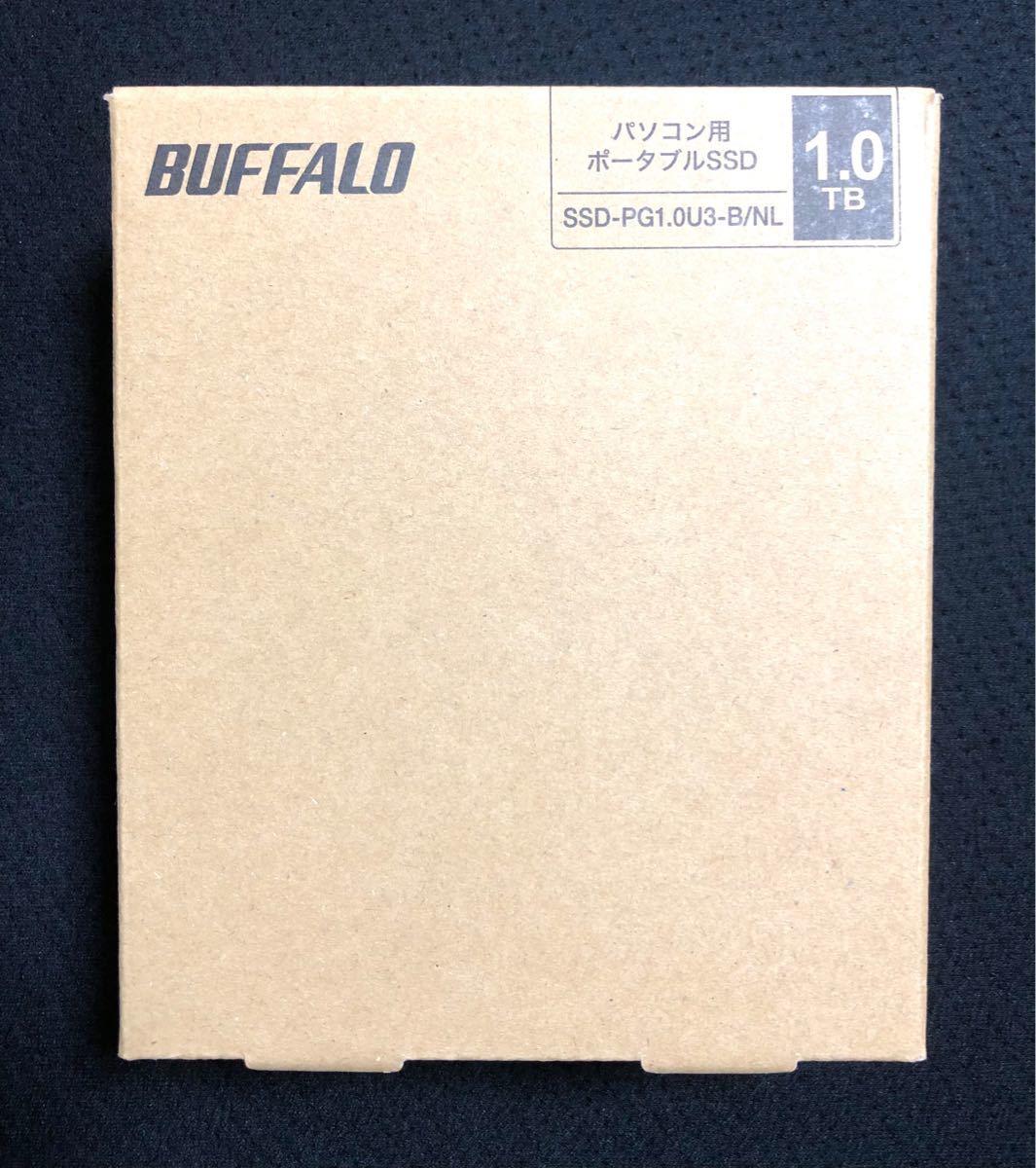 新品未開封 バッファロー ポータブルSSD 1TB SSD-PG1.0U3-B/NL [ブラック]BUFFALO