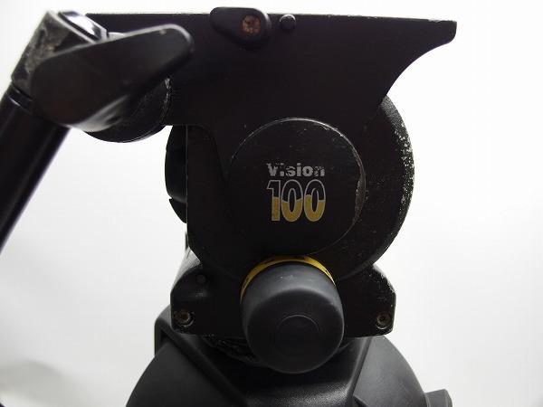 Vinten Vision100 FT2 Fibertec 三段三脚 ボール系100mm グランドスプレッダー付き ヘッド訳あり *319105_画像2