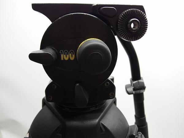 Vinten Vision100 FT2 Fibertec 三段三脚 ボール系100mm グランドスプレッダー付き ヘッド訳あり *319105_画像4