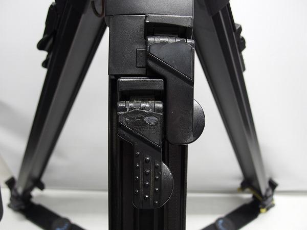 Vinten Vision100 FT2 Fibertec 三段三脚 ボール系100mm グランドスプレッダー付き ヘッド訳あり *319105_画像6