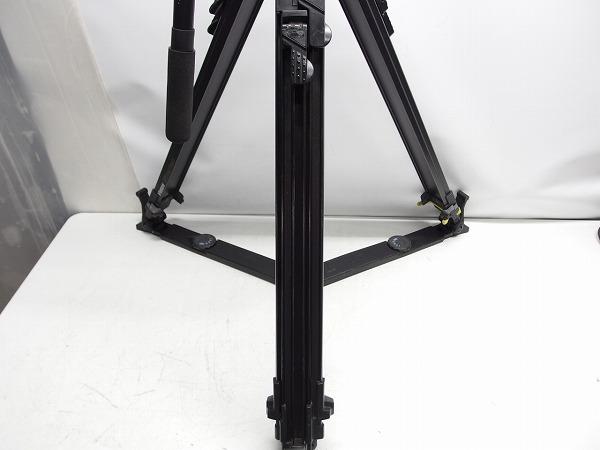 Vinten Vision100 FT2 Fibertec 三段三脚 ボール系100mm グランドスプレッダー付き ヘッド訳あり *319105_画像7
