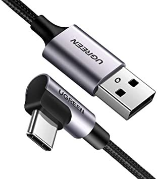 UGREEN USB Type C ケーブル L字ナイロン編み 3A急速充電 Quick Charge 3.0/2.0対応 56_画像1