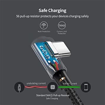 UGREEN USB Type C ケーブル L字ナイロン編み 3A急速充電 Quick Charge 3.0/2.0対応 56_画像6