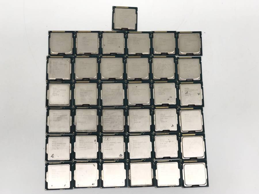 intel - CPU 計81枚セット まとめ売り Celelon G3900 G1000番台 Pentium G3000番台 Xeon E5 E3■ジャンク品_画像5
