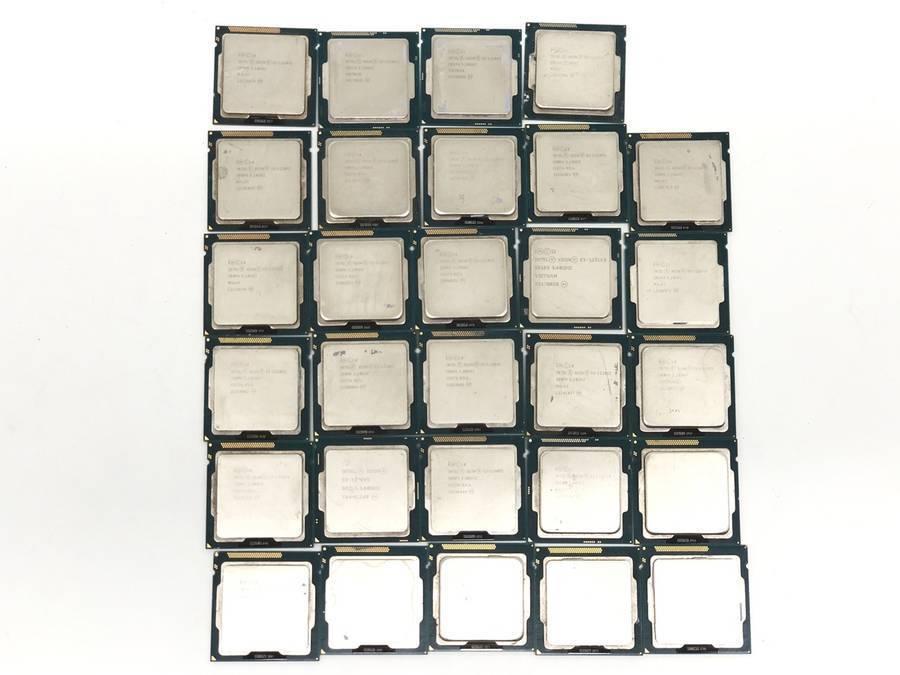 intel - CPU 計81枚セット まとめ売り Celelon G3900 G1000番台 Pentium G3000番台 Xeon E5 E3■ジャンク品_画像3
