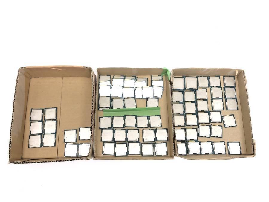 intel - CPU 計81枚セット まとめ売り Celelon G3900 G1000番台 Pentium G3000番台 Xeon E5 E3■ジャンク品_画像1