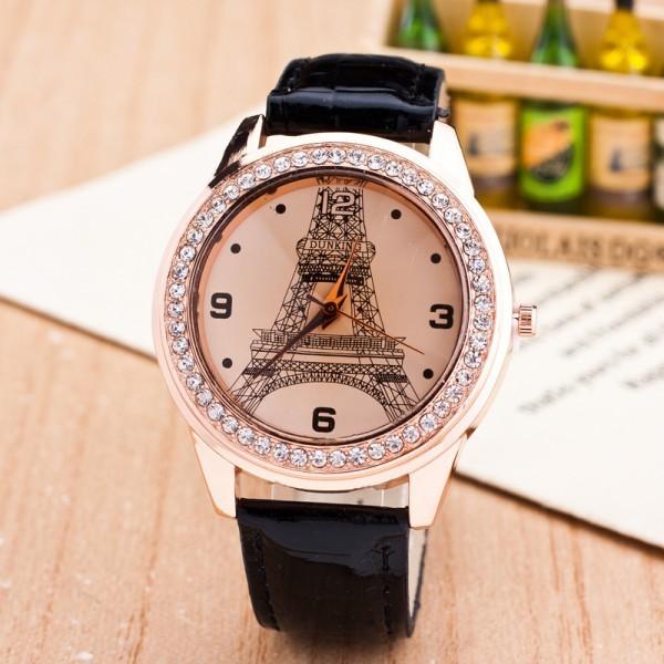 【カラー選択可能】女性の腕時計 ファッションダイヤモンド パリ エッフェル塔 ラインストーンの腕時計 レディースウォッチ クォーツ_画像2