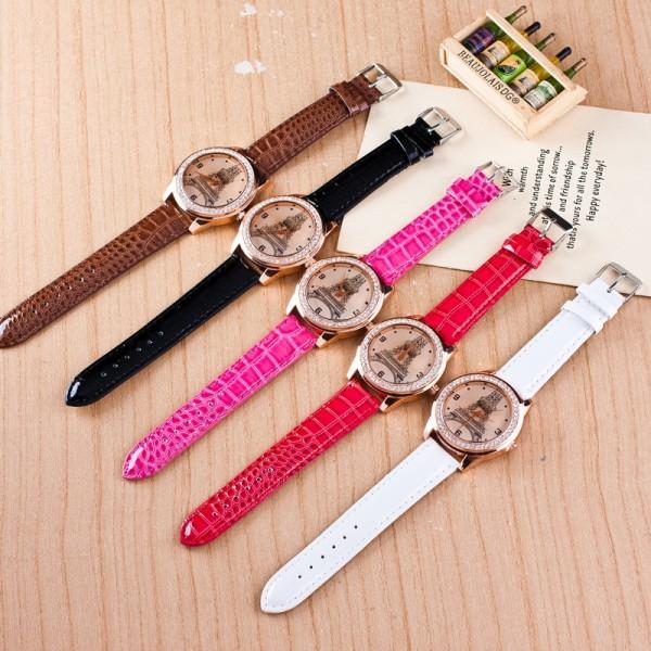 【カラー選択可能】女性の腕時計 ファッションダイヤモンド パリ エッフェル塔 ラインストーンの腕時計 レディースウォッチ クォーツ_画像4