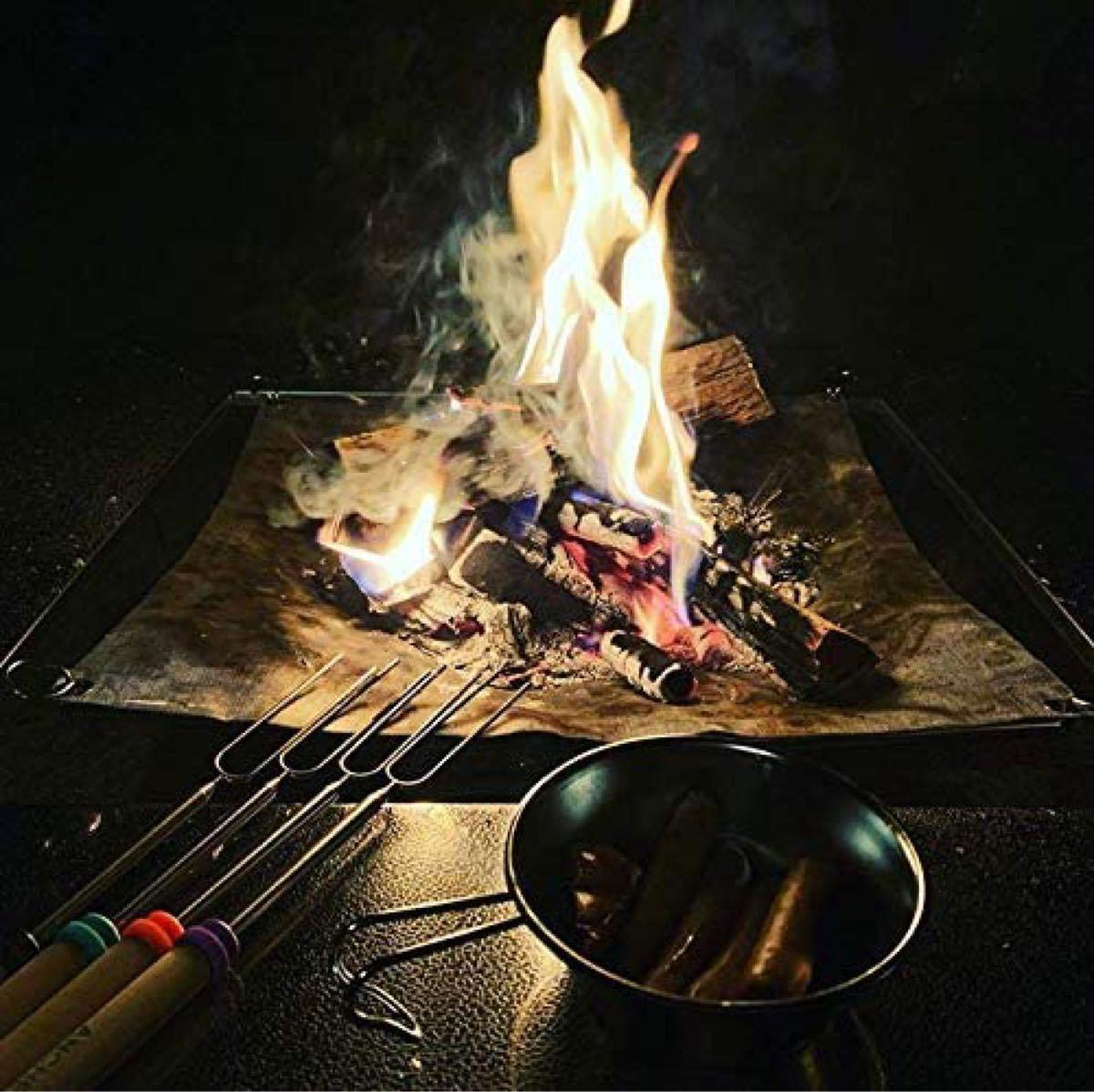 CAMPING MOON キャンピングムーンT500 ファイアープレイステーブル 囲炉裏テーブル ファイアーガード 焚火テーブル