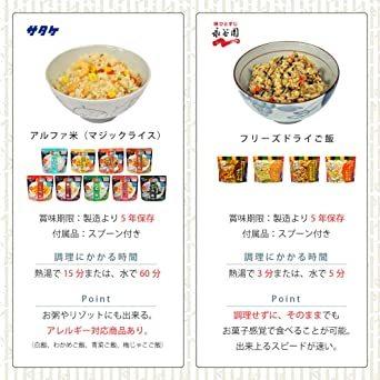 MT-NET 非常食 5年保存 【 永谷園 フリーズドライご飯 & マジックライス 計13種 食べ比べセット】_画像4