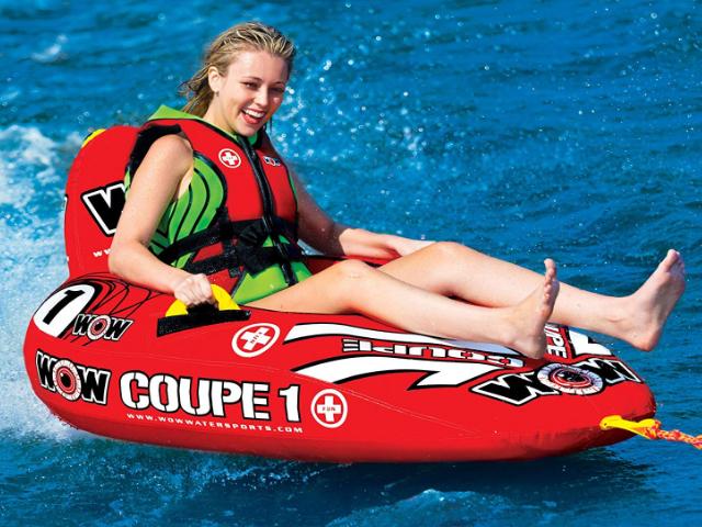 【即納】WOW ワオ トーイングチューブ 1人乗り バナナボート クーペ コックピット マリンスポーツ 管理番号[US1273]_画像2