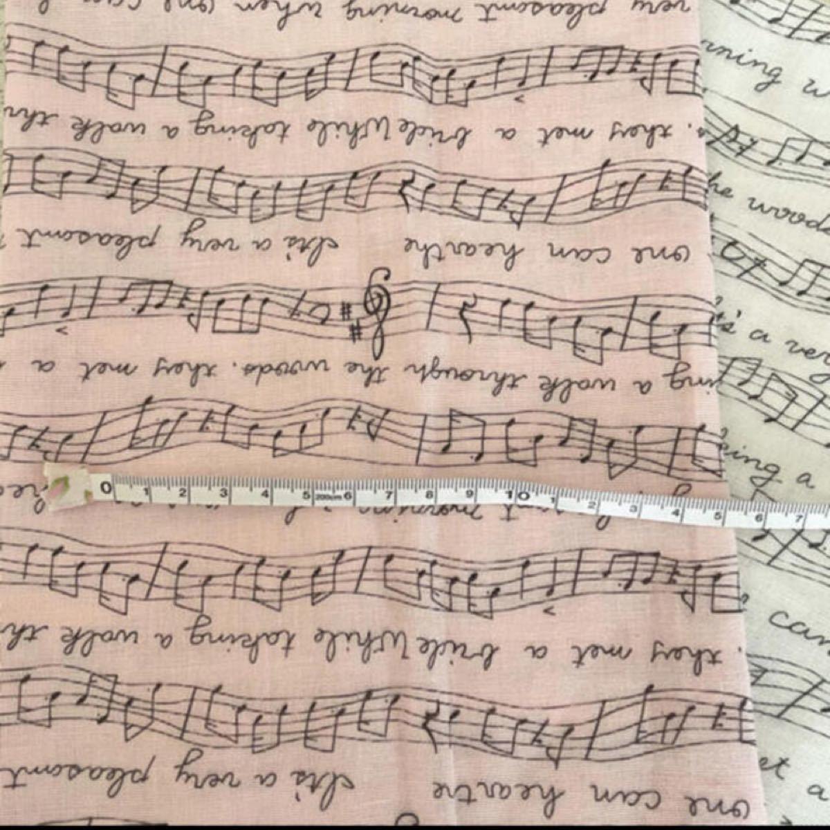 ダブルガーゼ 生地 ハギレセット 女の子 ピンク ユニコーン パステル 音符