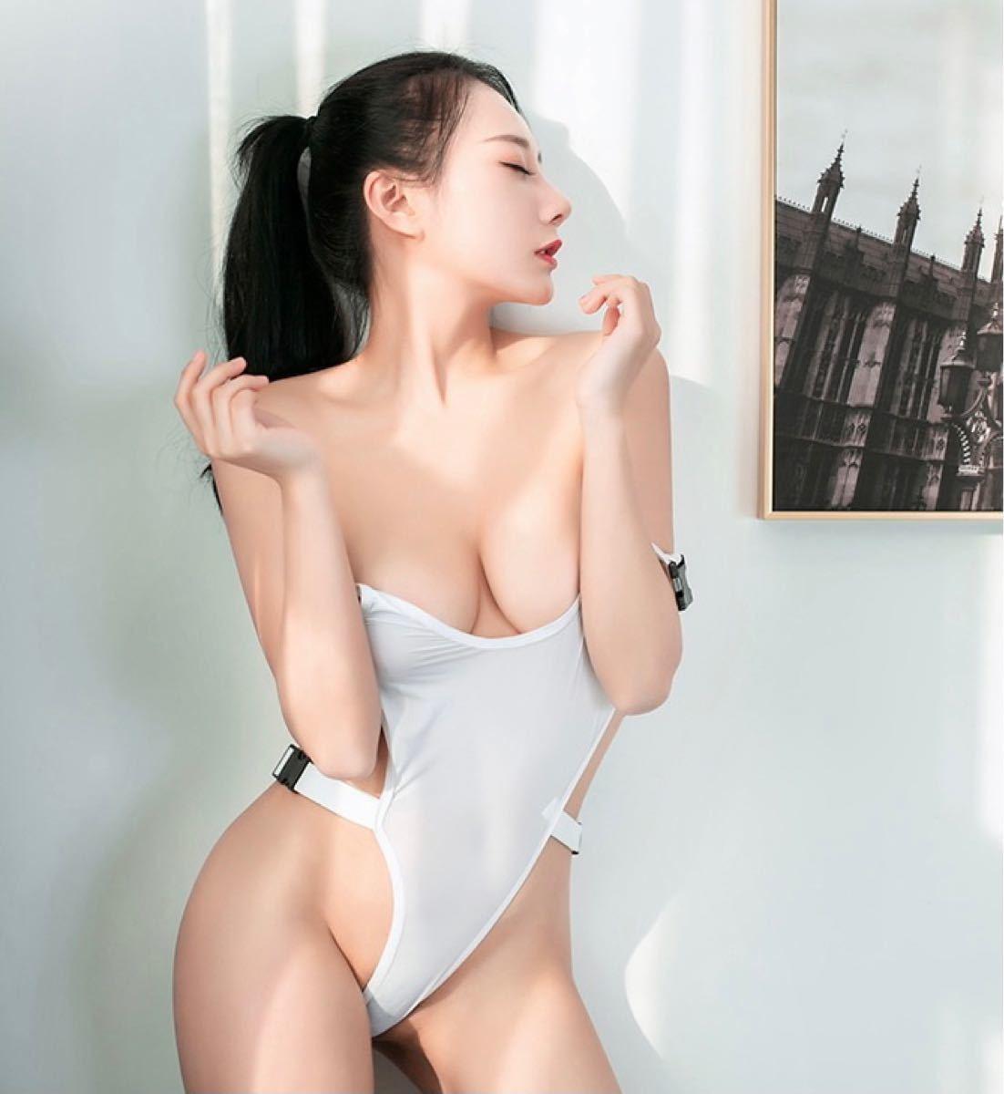 在庫処分特価  sexy 極薄 ハイレグレオタード コスプレ衣装  レースクイーンコスチューム 水着 6161