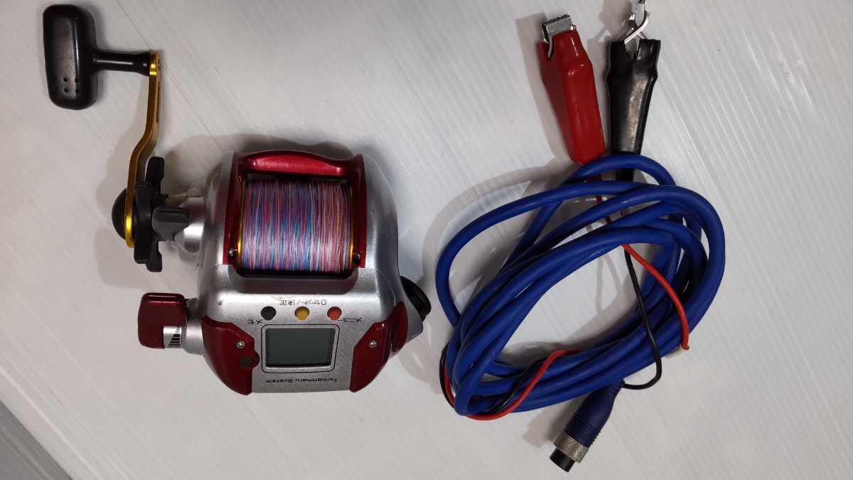 SHIMANO 3000 PLAYS tankenmaru system 電動丸 シマノ プレイズ 電源ケーブル付き 船用電動リール 船釣り フィッシング