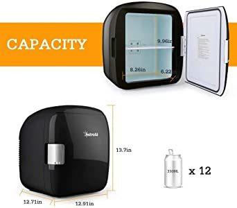 ブラック AstroAI 冷蔵庫 小型 ミニ冷蔵庫 小型冷蔵庫 車載冷蔵庫 冷温庫 9L 化粧品 小型でポータブル 家庭 車載 _画像2
