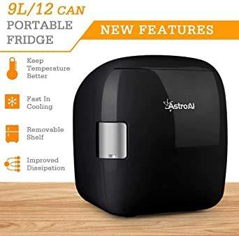 ブラック AstroAI 冷蔵庫 小型 ミニ冷蔵庫 小型冷蔵庫 車載冷蔵庫 冷温庫 9L 化粧品 小型でポータブル 家庭 車載 _画像5