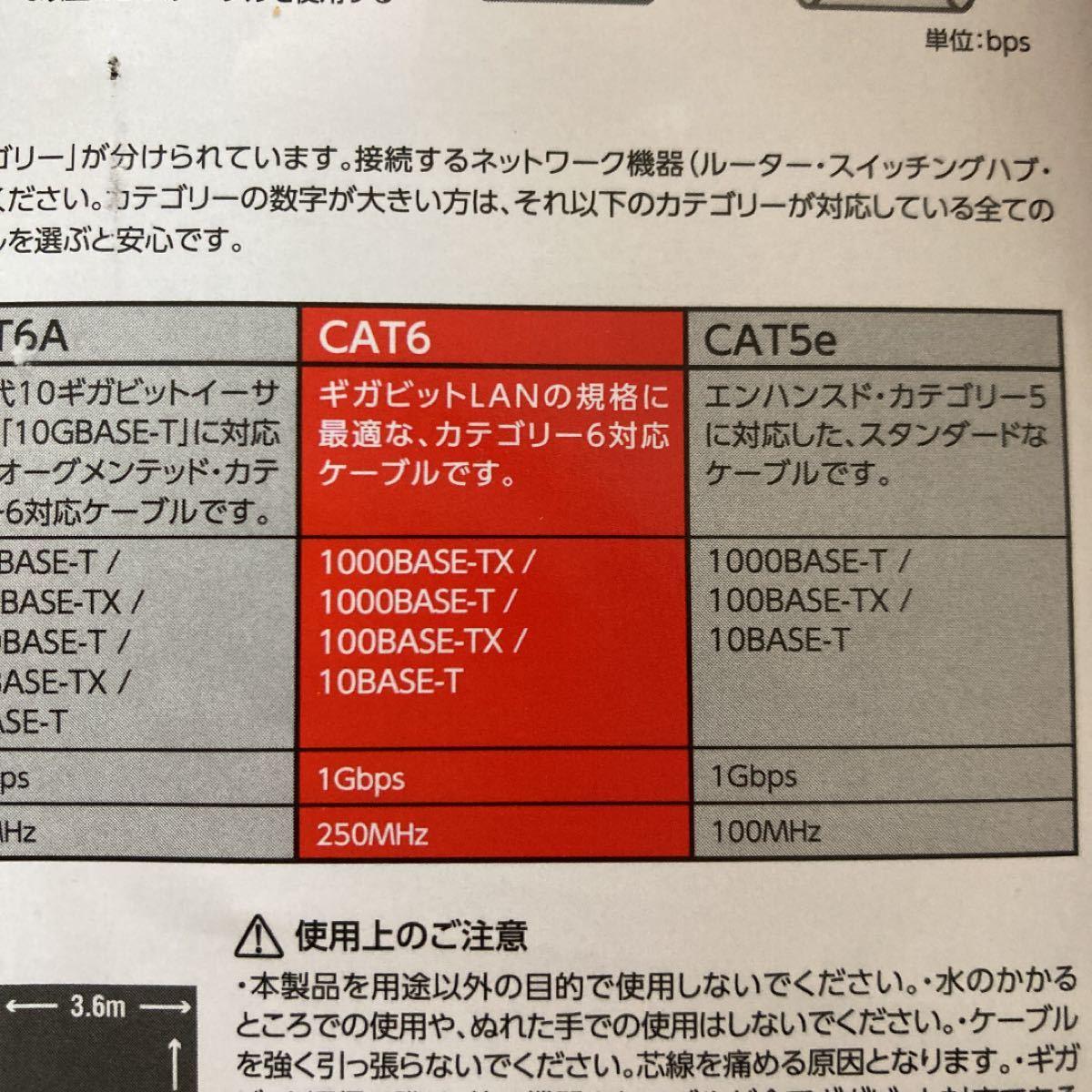 エレコム ツメ折れ防止フラットLANケーブル (Cat6準拠) LD-GFT/BK100