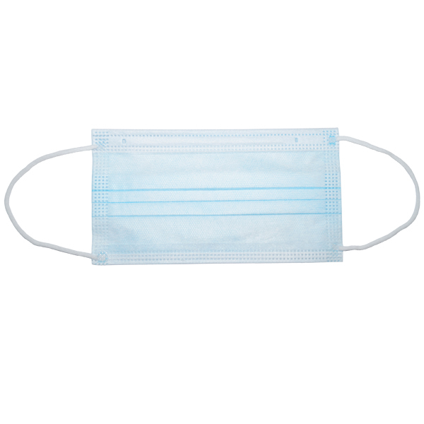 即納 送料無料 マスク 1枚 在庫あり 使い捨て 不織布 淡ブルー 青 医療用タイプ サージカルマスク 国内発送 ウイルス飛沫対策 99%カット_現物写真です。