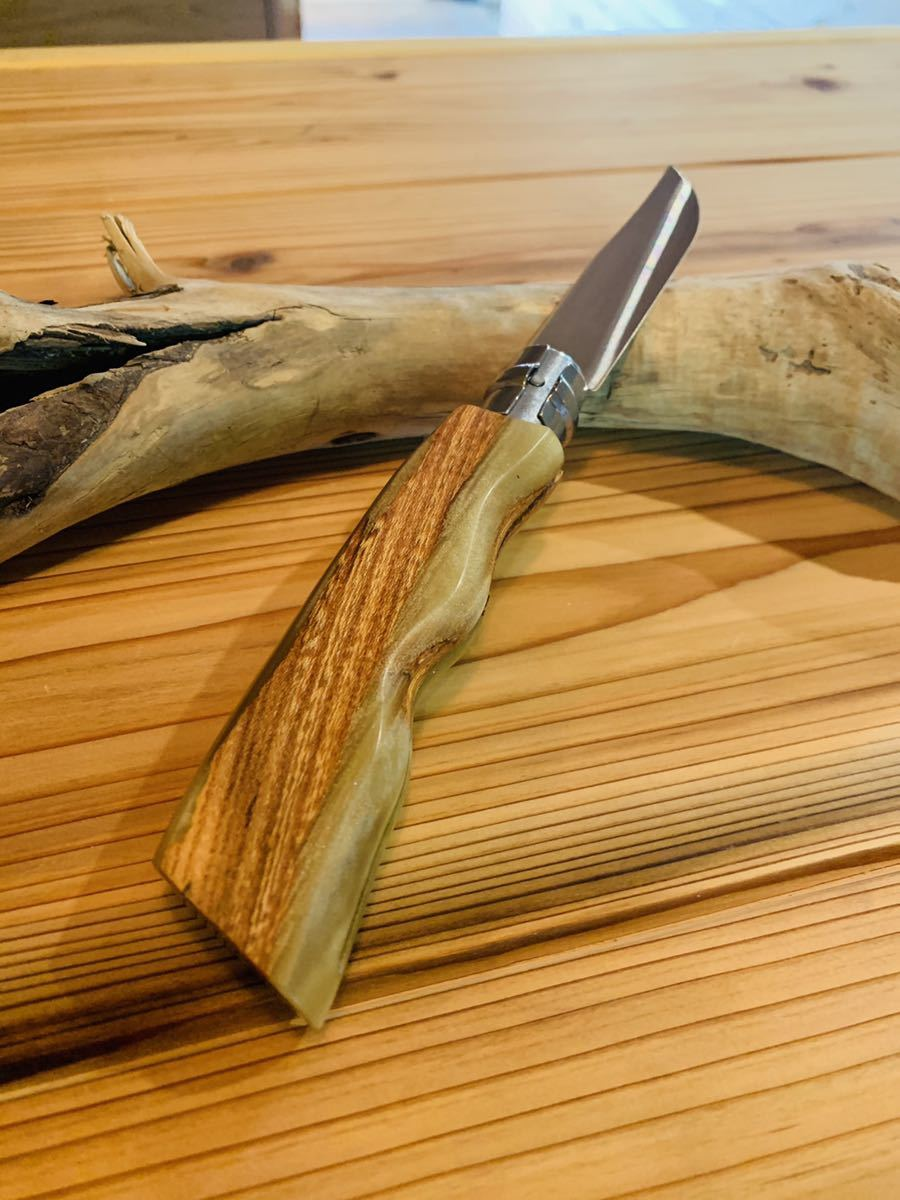 OPINEL#09ウッドレジンカスタムナイフ