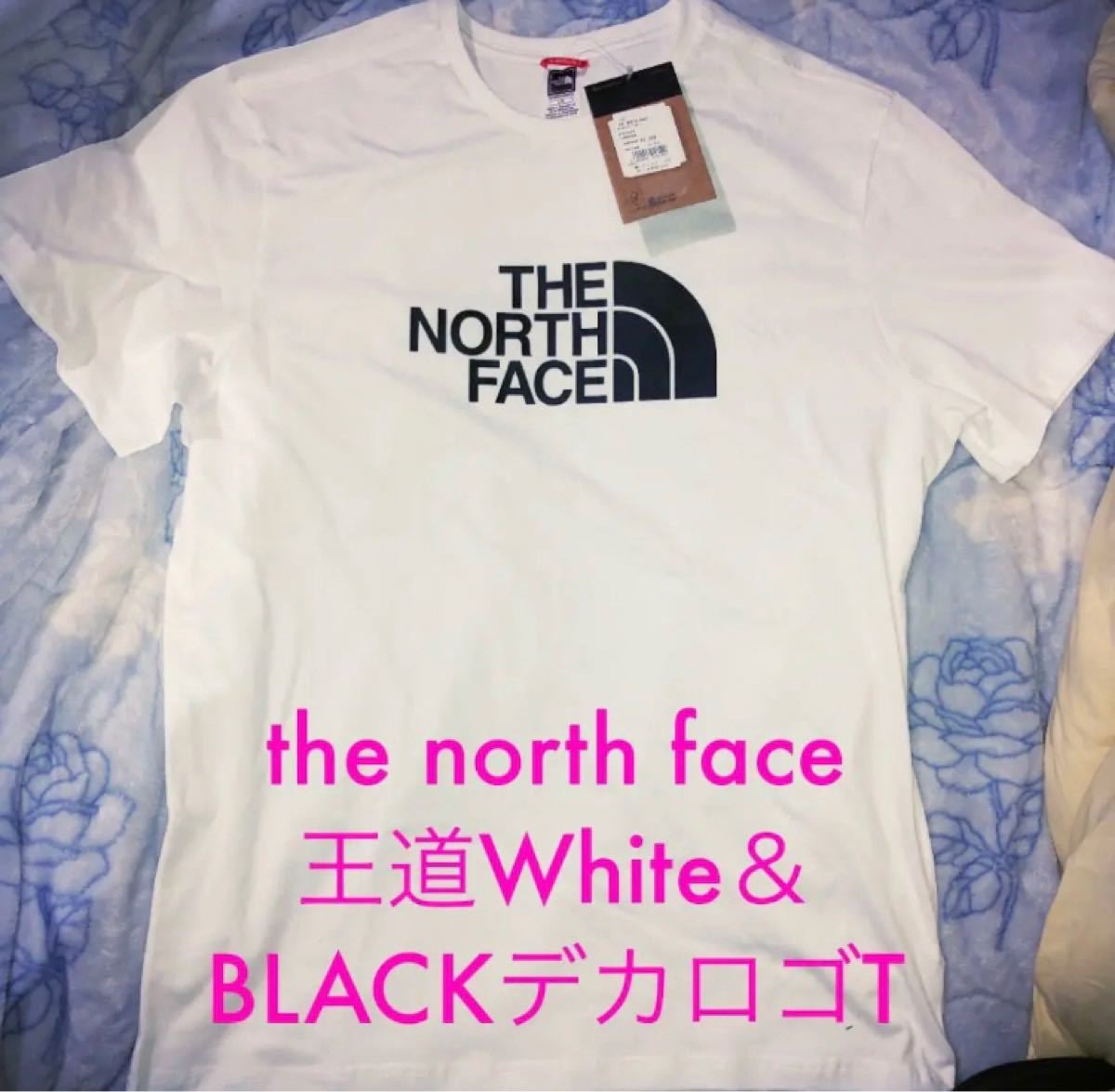 THE NORTH FACE ハーフドーム 海外限定 ザノースフェイス王道White&BLACKーデカロゴ 海外Lサイズ
