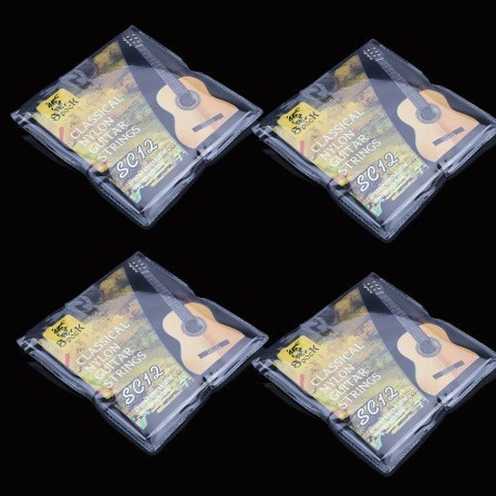U1252:6ピース クラシック ギター 弦 6弦 ナイロン シルバーメッキ 超軽量 アコースティック 楽器_画像1
