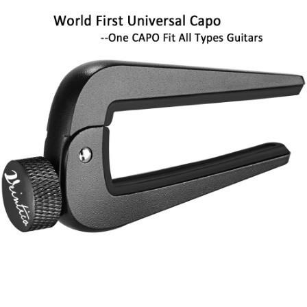 U1156:6弦 12弦 アコースティック クラシック エレクトリックギター ベース マンドリン ウクレレ 弦楽器用 調整可能 ギターカポフィット_画像1